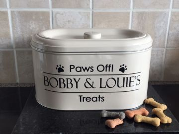Personalised Dog Treat Tin .